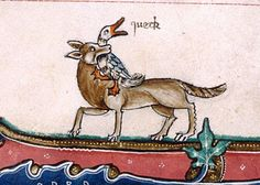 queck gloss Gorleston Psalter, England 14th century. British Library, Additional 49622, fol. 190v