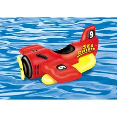 Swimline SeaRaider Sea Plane Kiddie Ride-On for Swimming Pools, Red