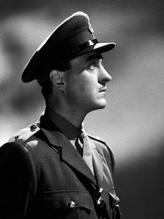 David Niven. He was a lone British celebrity in his end who joined the army to serve in the war.