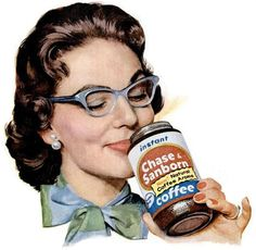 chase and sanborn instant coffee 1958
