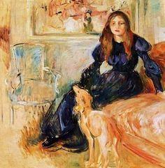 Berthe Morisot (1841-1895) Julie Manet and her Greyhound Laertes 1893