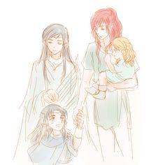 Maglor, Caranthir, Maedhros and Celegorm