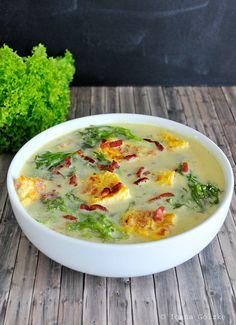 Rezept des Monats April - Salat-Suppe mit Omelett und Speck aus Siebenbürgen, Rumänien (Ciorba de Salata)