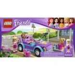 #SweetRelish Say hello to Stephanie and her cool purple convertible. First, build the car with this 130-piece set, then help Stephanie wash it with the included car wash kit. Part of the LEGO Friends collection, this fun set includes a Stephanie mini-doll figure, dog Coco and loads of accessories, including an MP3 player, purse and hair accessory pack.