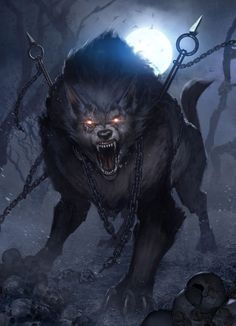 """The handle (of the sword) rested against the tongue, and the tip against the palate. ""He howls wildly, and saliva runs from his mouth like a river that is called Vaughn. And so he will lie until the end of ""the world""...Fenrir, Ladies and the Gentlemen."