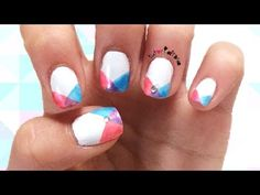 Easy & Simple Instersecting Geometric Nail Design Tutorial   How To