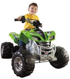 Power Wheels Kawasaki KFX Ride on Toys Car Battery Operated Boys Fisher Kids 4 Wheelers, Kids Atv, Atv Riding, Power Wheels, Kids Ride On, Ride On Toys, Car Wheels, Chrome Wheels, Bugatti Veyron