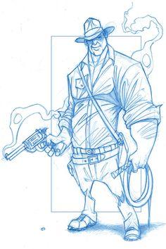 Indiana Jones by KingOlie on deviantART