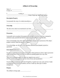 Affidavit Samples Purchase Order Template 01  Manith  Pinterest