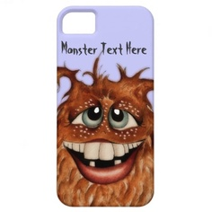 Cute Monster Face iPhone 5 Case by SimonaMereuArt $42.30   From my original work, ink and watercolor on paper.
