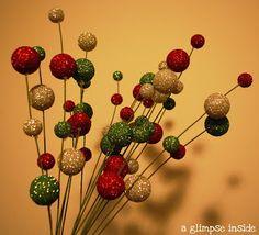 DIY A Glimpse Inside: Glittery Tree Picks- Tutorial
