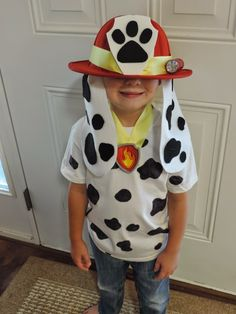 City Teacher Goes Country: Homemade Halloween Costumes-Marshall from Paw Patrol