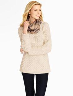 Talbots - Diamond-Stitched Tunic Sweater | Sweaters |