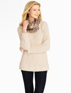 Talbots - Diamond-Stitched Tunic Sweater | Sweaters |