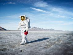 Astronaut Salt Flats 004 by Hunter Freeman