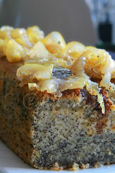 Terapia do Tacho: Bolo de limão com sementes de papoila / Lemon cake with poppy seeds