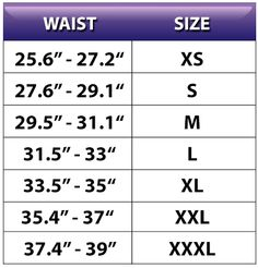 *Please order according to your exact and current waist size. Our waist trimmers are designed to fit smaller. Ordering a size smaller than your current measurement will not fit you and we do not allow any exchanges or returns.