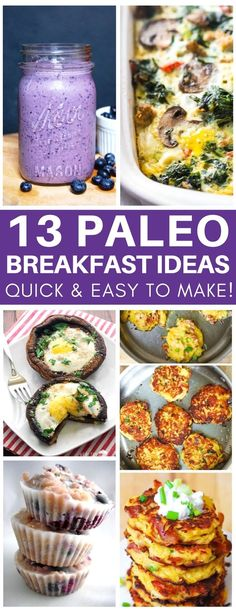 This is exactly what I needed! Quick & easy paleo breakfast ideas to mix things up because I was sick of always making scrambled eggs. Great ideas for make ahead breakfasts and freezer meals for when you're running late in the morning!