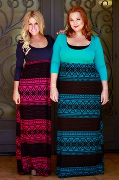 The perfect maxi dress for fall! Small through plus size! #inspiredbyyou