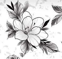 Floral Tattoo Design, Tattoo Designs, Tattoo Sketches, Ink Art, Tatoos, Abstract, Flowers, Artwork, Tattoos