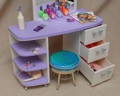 American Girl Salon Set Stool Pleasant Co Accessories Retired Doll Furniture #AmericanGirl #HousesFurniture