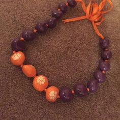 Necklace ribbon Clemson necklace Francesca's Collections Jewelry Necklaces