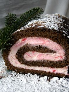 Chocolate Peppermint Cake Roll