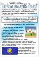 A poster with information about the Commonwealth Games. Perfect for whole class reading or independent research! Education Information, Information Poster, Class Activities, Activity Games, Commonwealth Games 2018, Play Based Learning, Class Projects, Girl Guides, Home Schooling