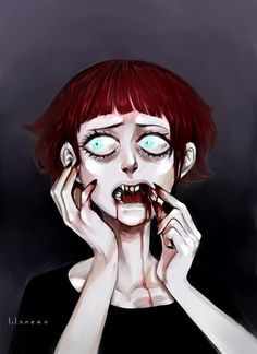 give me your teeth by lilanero.deviantart.com on @DeviantArt