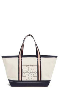 a4ebb7ae92f8 Tory Burch  Small - Stripe T  Canvas Tote available at  Nordstrom ...