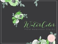 green-floral-cliparts-watercolor-green-flower-bouquet