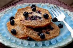 Oatmeal-Blueberry Pancakes, healthy and yummy too..
