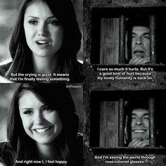 #TVD 4x23 8x11 - Elena and Damon with their humanity back on. - #ElenaGilbert #DamonSalvatore