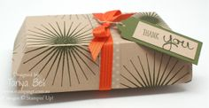 Stampin' Up! Hamburger Box Die - larger gift box video available