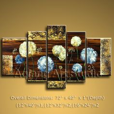 Modern Contemporary Wall Art Oil Painting Dandelion Flowers For Living Room G050 $168.00  . Discover more paintings available at eBay store http://stores.ebay.com/Aqiangs-Art-Studio