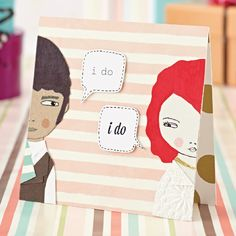 FREE downloads: Mix & match Kirsty Neale's Talking Heads printables for quirky handmade cards!   From Papercraft inspirations issue 134
