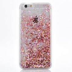 Pretty Rose Gold Cascading Glitter Confetti for Your iPhone. High Quality Protective Hard Case Easy Access to Ports Available for iPhone 7, 7 Plus