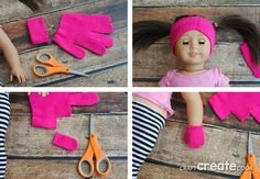 Sew American Girl Headband & Mittens Keep your American Girl Doll warm and toasty with our No Sew Headband & Mittens!Keep your American Girl Doll warm and toasty with our No Sew Headband & Mittens! Sewing Doll Clothes, Baby Doll Clothes, Sewing Dolls, Doll Clothes Patterns, Dress Patterns, Barbie Clothes, Doll Patterns, Ropa American Girl, American Girl Crafts