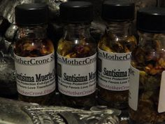 Santisima Muerte Oil Holy Death Success by MaidenMotherCrone, $6.90