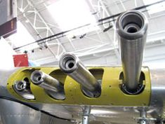 One of the most recognizable traits of the P-47 Thunderbolt is the big fighter's quartet of staggered .50-caliber machine guns bristling from each wing. FHC staffers recently located and installed the barrels and stainless steel cooling jackets in the collection's Republic P-47D, thus continuing to make the collection a little more complete one part at a time.