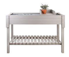 Mesa de cultivo en madera de pino - blanco