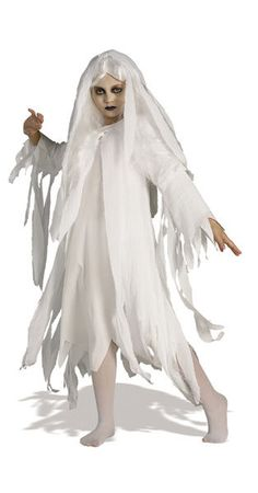 This Girls Ghostly Spirit Costume Includes A Wig Hooded Gauze Coat and Dress Size: M. Girls' Ghostly Spirit Halloween Costume M Multicolored Spirit Halloween Costumes, Ghost Costumes, Halloween Ghosts, Girl Costumes, Spirit Costumes, Halloween Foods, Costumes Kids, Holiday Costumes, Creative Costumes