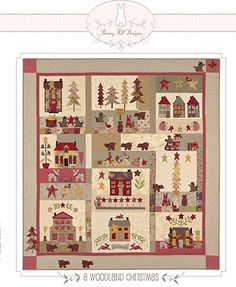 Woodland Christmas by Bunny Hill Designs....this will be a block of the month at the Whistlestop Quilt Retreat!