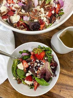 Denmark Cottage Salad — Denmark Cottage Summer Recipes, Fall Recipes, My Recipes, Red Wine Vinaigrette, Good Food, Yummy Food, Toasted Pecans, Feta, Strawberry