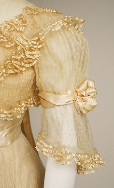 Dress, Evening by JACQUES DOUCET. 1906–7, French. Medium: silk. (a) Length at CB: 25.4 cm. (b) Length at CB: 132.1 cm. (c) Length at CB: 31.8 cm.
