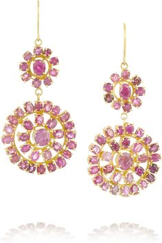 Pippa Small | 18-karat gold ruby earrings | NET-A-PORTER.COM