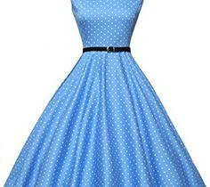 Swing Dress For Women 50s Vintage Sleeveless Size XS F-1