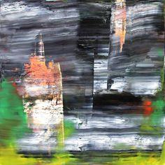 abstract 1082 [Laos I], Koen Lybaert, oil on canvas 140 x 140 cm #art #abstract