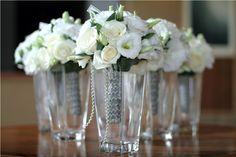 Bridesmaids bouquet in white Lisianthus by Tirtha Bridal Uluwatu Bali
