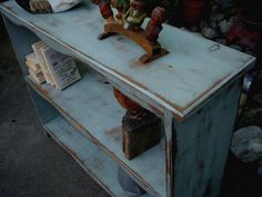 Rustic Book Shelves Shelf - Larger Size Table with Shelves - Bookshelf - Shelving - Furniture. $360.00, via Etsy.